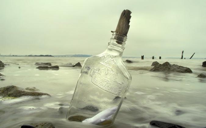 bottle of taaka to the sea haha